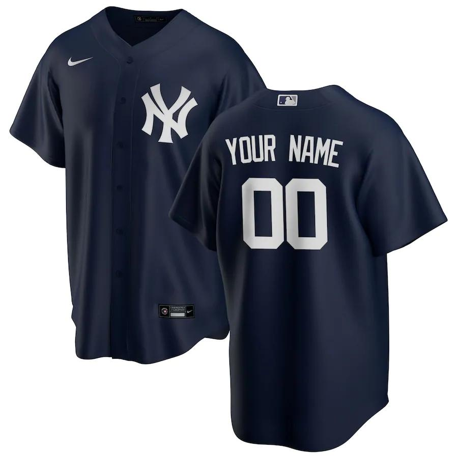 New York Yankees Jersey - Custom Name and Number - Navy