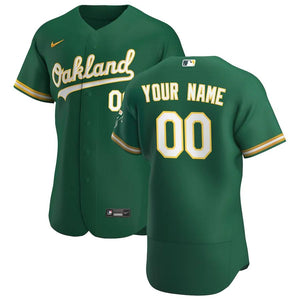 Oakland Athletics Jersey - Custom Name and Number - Green
