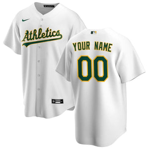 Oakland Athletics Jersey - Custom Name and Number - White