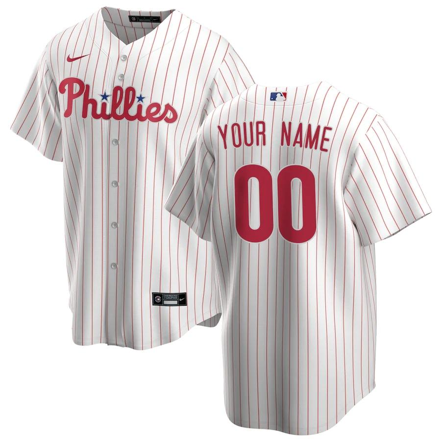 Philadelphia Phillies Jersey - Custom Name and Number - White