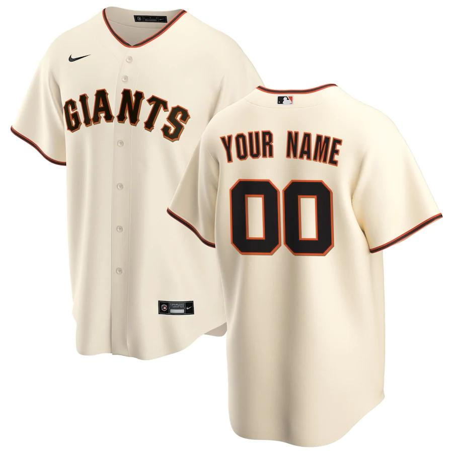 San Francisco Giants Jersey - Custom Name and Number - Cream