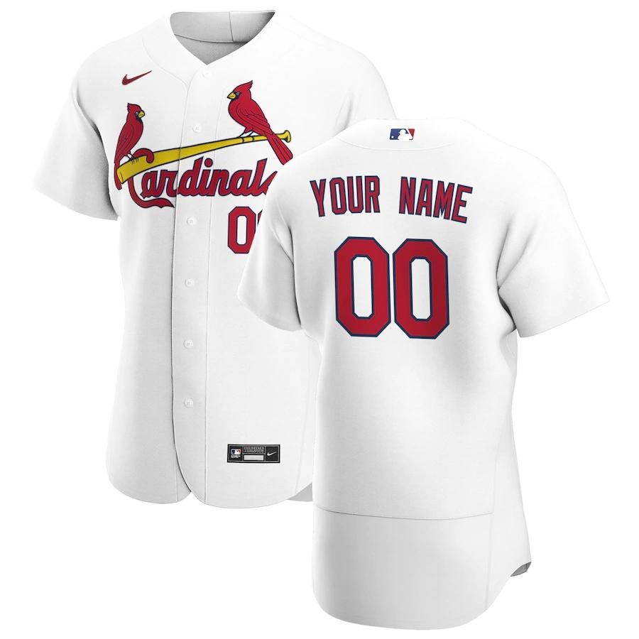 St. Louis Cardinals Jersey - Custom Name and Number - White