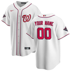 Washington Nationals Jersey - Custom Name and Number - White