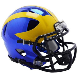 Michigan Wolverines Helmet - Chrome Mini Football Helmet