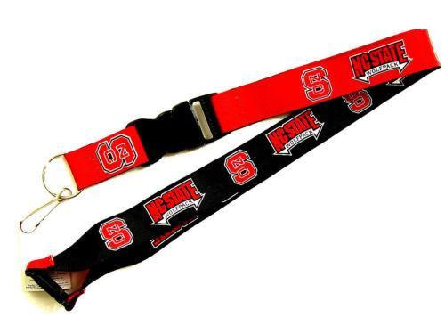 North Carolina State Wolfpack reversible lanyard keychain