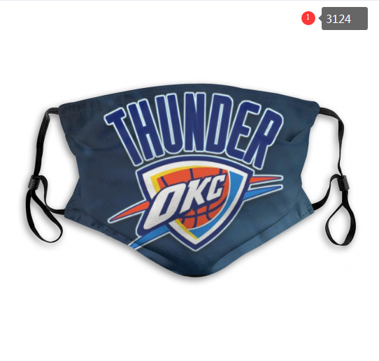 Oklahoma City Thunder Face Mask - Reuseable, Fashionable, Washable