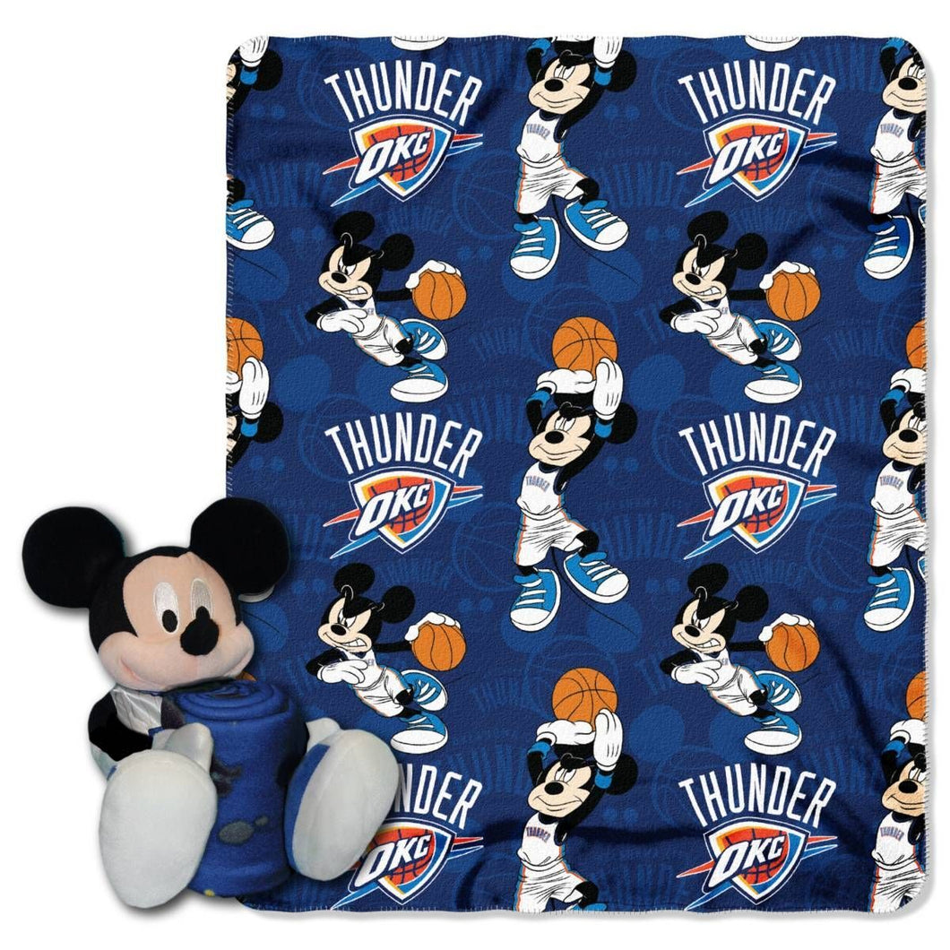 Oklahoma City Thunder Blanket - Mickey Hugger and Fleece Throw Set
