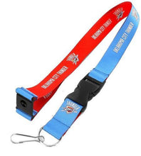 Load image into Gallery viewer, Oklahoma City Thunder reversible lanyard -  keychain badge holder