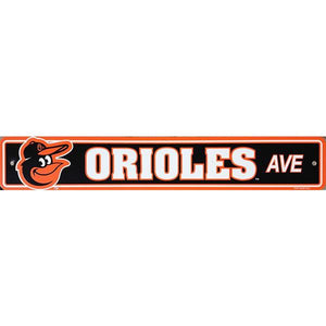 "Baltimore Orioles Sign - Street Sign - 4""x24"""