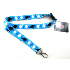 Carolina Panthers Lanyard - Argyle Lanyard Clip Keychain Key Ring Badge Ticket Holder