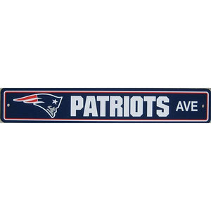 "New England Patriots Sign - Street Sign - 4""x24"""