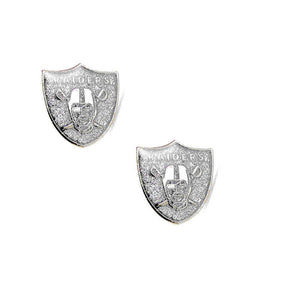 Las Vegas Raiders Earrings - Glitter Logo Stud Earrings