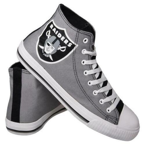 Las Vegas Raiders Shoes - Men's High Top Canvas Big Logo Shoes