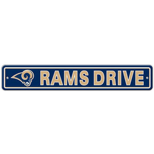"Los Angeles Rams Street Sign - 4""x24"""