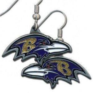 Baltimore Ravens Earrings - Logo Dangle Earrings