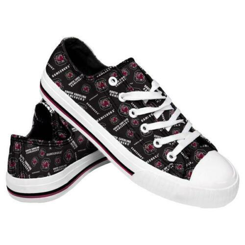 South Carolina Gamecocks Shoes - Womens Low Top Repeat Print Canvas Shoe