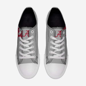 Alabama Crimson Tide Shoes - Mens Low Top Big Logo Canvas