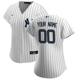 New York Yankees Jersey - Custom Name and Number - Women's White