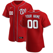 Load image into Gallery viewer, Washington Nationals Jersey - Custom Name and Number - Red