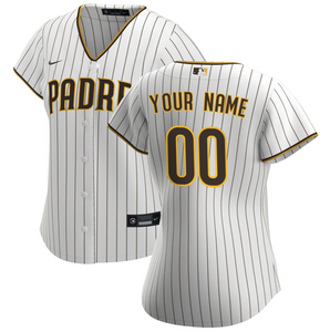 San Diego Padres Jersey - Custom Name and Number - Women's White
