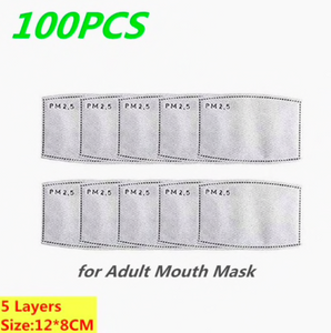 Face Mask Filters- PM2.5 Activated Carbon Face Mask Filters