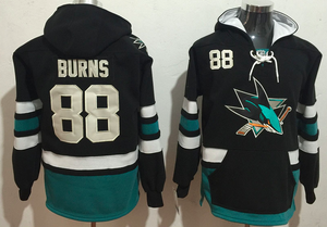 San Jose Sharks Lacer - Brent Burns Black Pullover