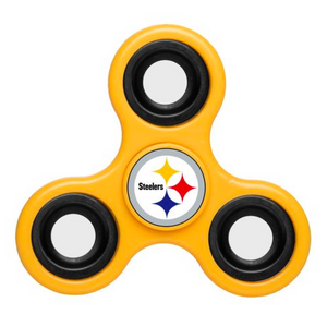 Pittsburgh Steelers Hand Spinner - 3 Way Diztracto Fidget Hand Spinner