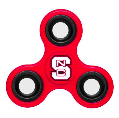 North Carolina State Wolfpack Hand Spinner - 3 Way Diztracto Fidget Hand Spinner