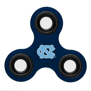 North Carolina Tar Heels Hand Spinner - 3 Way Diztracto Fidget Hand Spinner