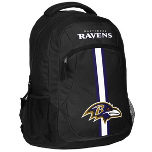 Baltimore Ravens Backpack - Team Logo Laptop Backpack