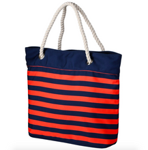 Load image into Gallery viewer, Denver Broncos Tote Beach Bag - Nautical Stripe
