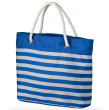 Load image into Gallery viewer, Detroit Lions Tote Beach Bag - Nautical Stripe