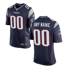 Load image into Gallery viewer, New England Patriots Jersey - Men's Navy Custom Game Jersey