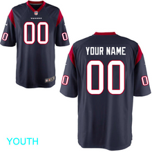 Load image into Gallery viewer, Houston Texans Jersey - Youth Navy Custom Game Jersey
