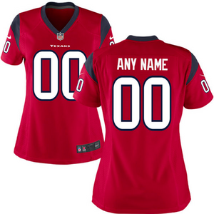 Houston Texans Jersey - Women's Red Custom Game Jersey