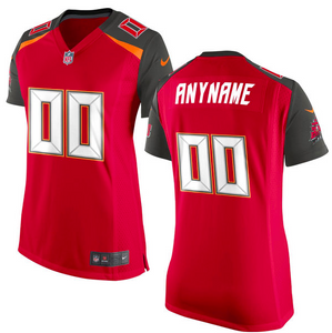 Tampa Bay Buccaneers Jersey - Women's Red Custom Game Jersey