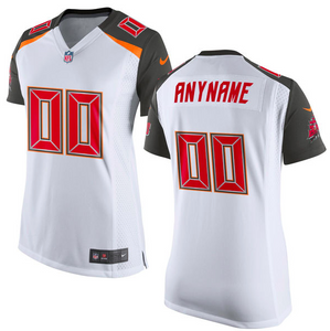 Tampa Bay Buccaneers Jersey - Women's White Custom Game Jersey