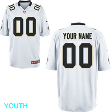 Load image into Gallery viewer, New Orleans Saints Jersey - Youth White Custom Game Jersey