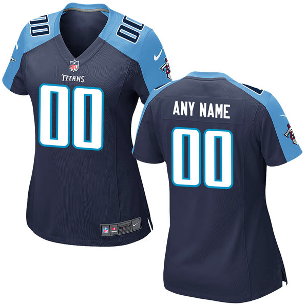 Tennessee Titans Jersey - Women's Navy Blue Custom Game Jersey
