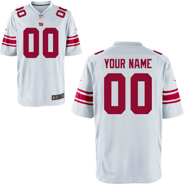 New York Giants Jersey - Men's White Custom Game Jersey