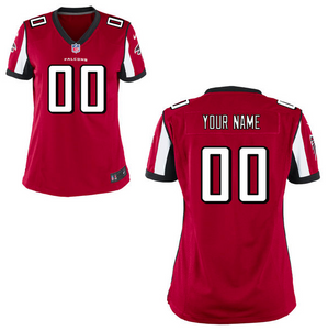 Atlanta Falcons Jersey - Women's Red Custom Game Jersey