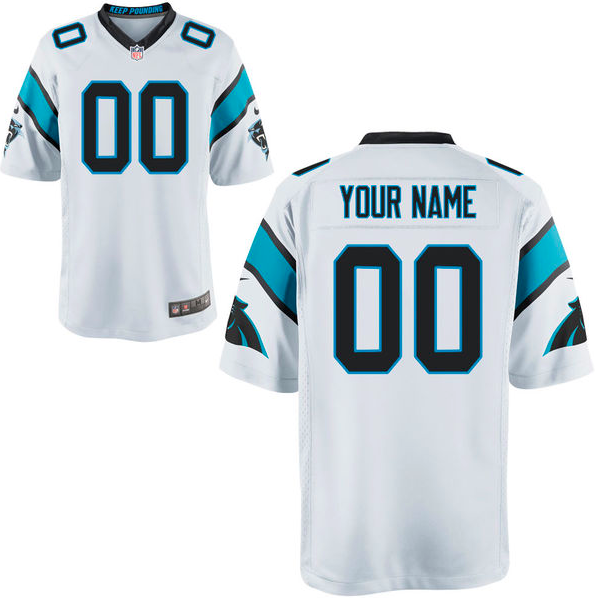 Carolina Panthers Jersey - Men's White Custom Game Jersey