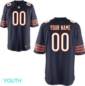 Chicago Bears Jersey - Youth Navy Custom Game Jersey