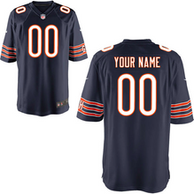 Load image into Gallery viewer, Chicago Bears Jersey - Men's Navy Custom Game Jersey