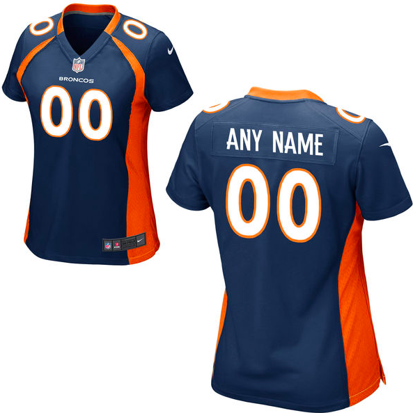 Denver Broncos Jersey - Women's Blue Custom Game Jersey