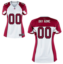 Load image into Gallery viewer, Arizona Cardinals Jersey - Women's White Custom Game Jersey