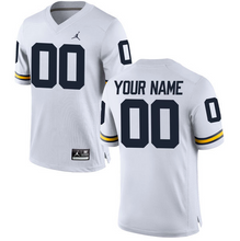 Load image into Gallery viewer, Michigan Wolverines Jersey - Custom White Away Jersey - Any Name and Number
