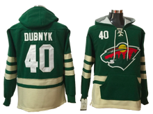 Load image into Gallery viewer, Minnesota Wild Lacer - Green Pullover Hockey Hoodie - Several Players
