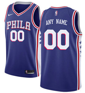 Philadelphia 76ers Jersey - Custom Name and Number - Blue