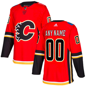 Calgary Flames Jersey - Custom Name and Number - Red